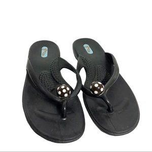 Oka B Black Jelly Flip Flop Sandal Size Medium